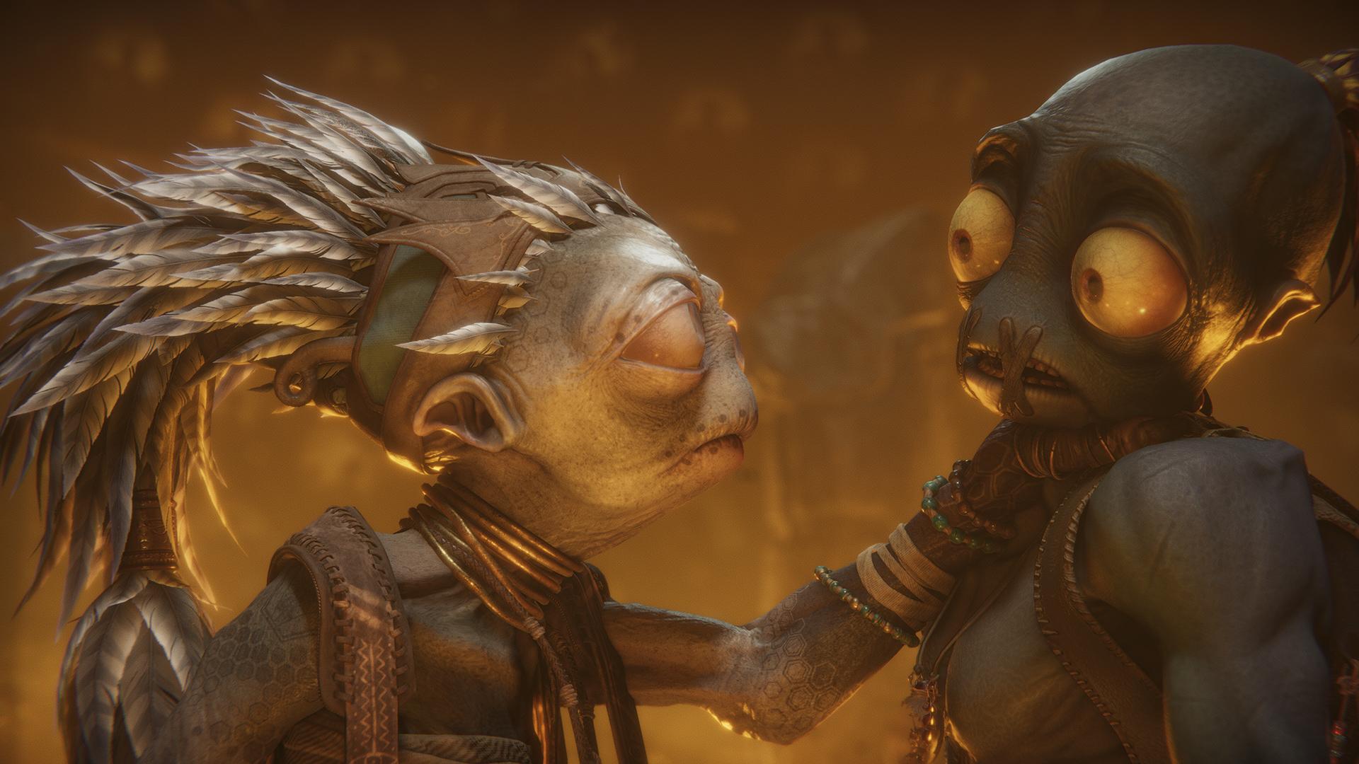 Oddworld Soulstorm: captura de pantalla de revelación