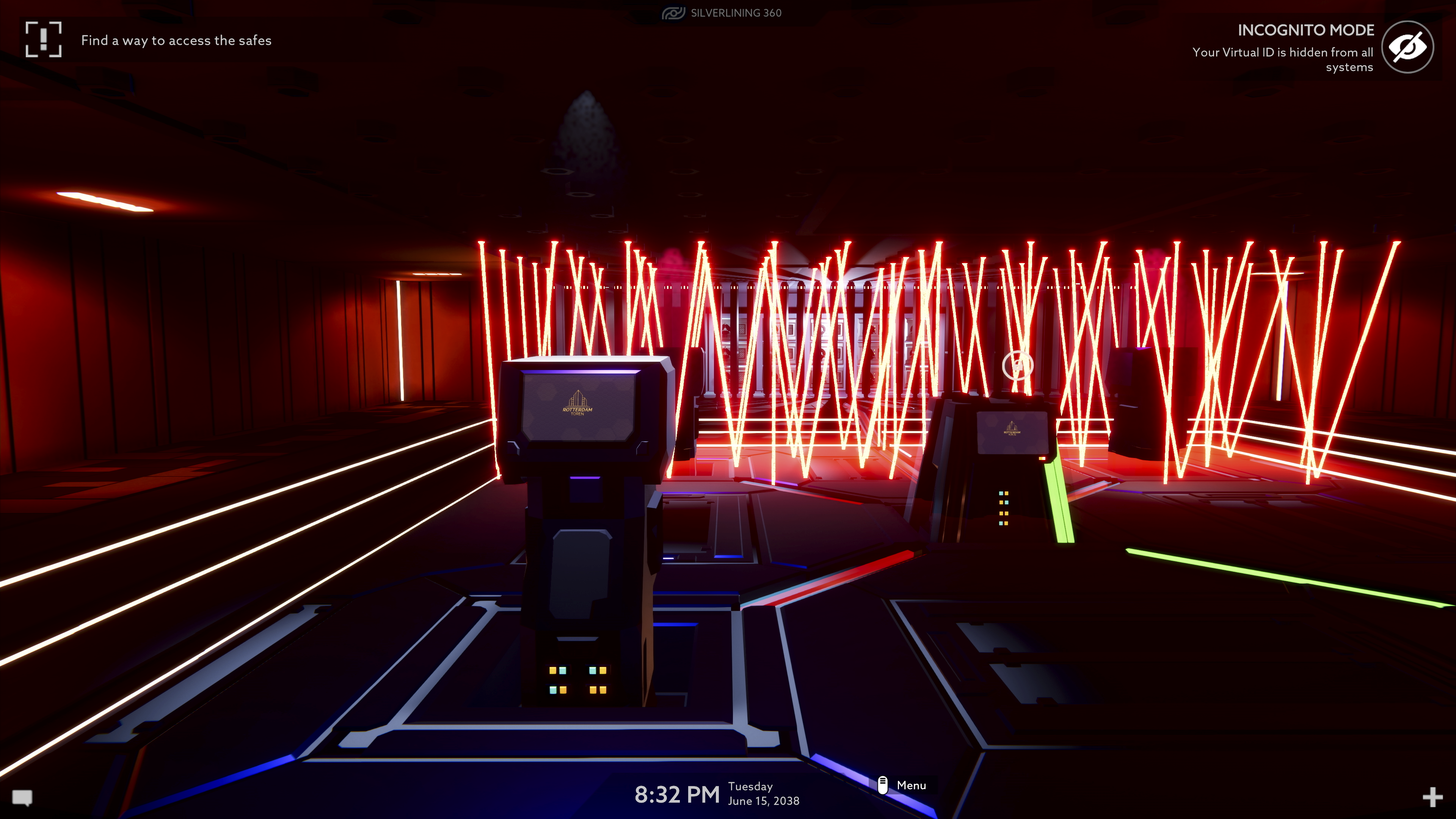 Operation Tango screenshot - Dark room with red security lasers