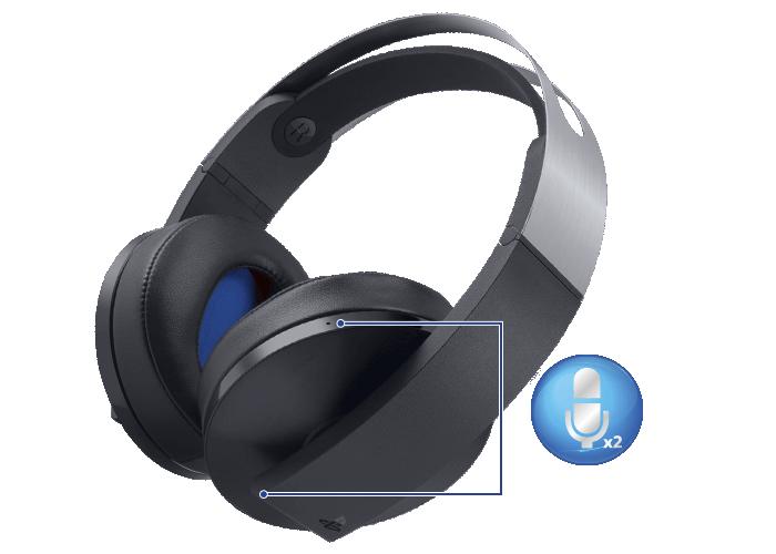 Imagem do headset sem fio Platina