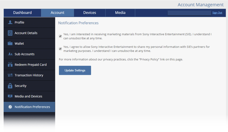 How to Sign-Up for PlayStation Marketing Communications