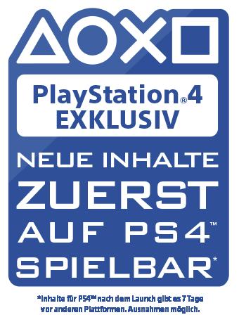 PlayStation Exklusiv – Neue Inhalt zuerst auf PS4 spielbar