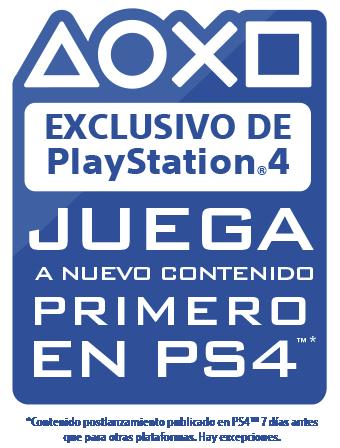 Exclusivo de PlayStation - Juega nuevo contenido primero en PS4