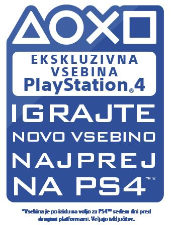 Ekskluzivno na sistemu PlayStation – novo vsebino igrajte najprej na sistemu PS4