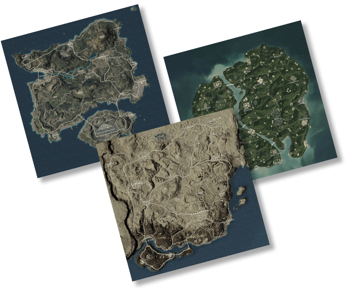 PlayerUknown's Battlegrounds - Explore three maps art