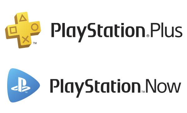 Loga PlayStation Plus a PlayStation Now