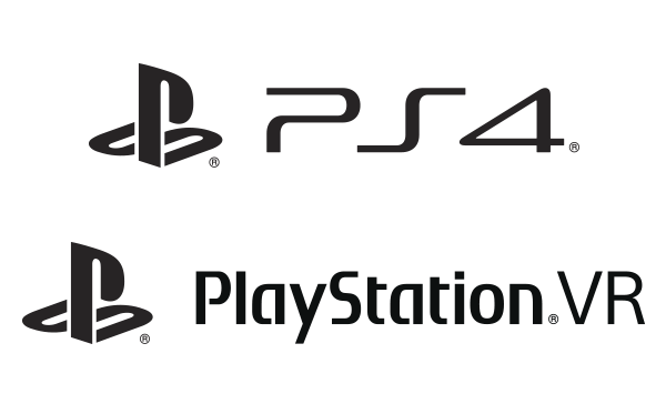 PS4 and PlayStation VR logos