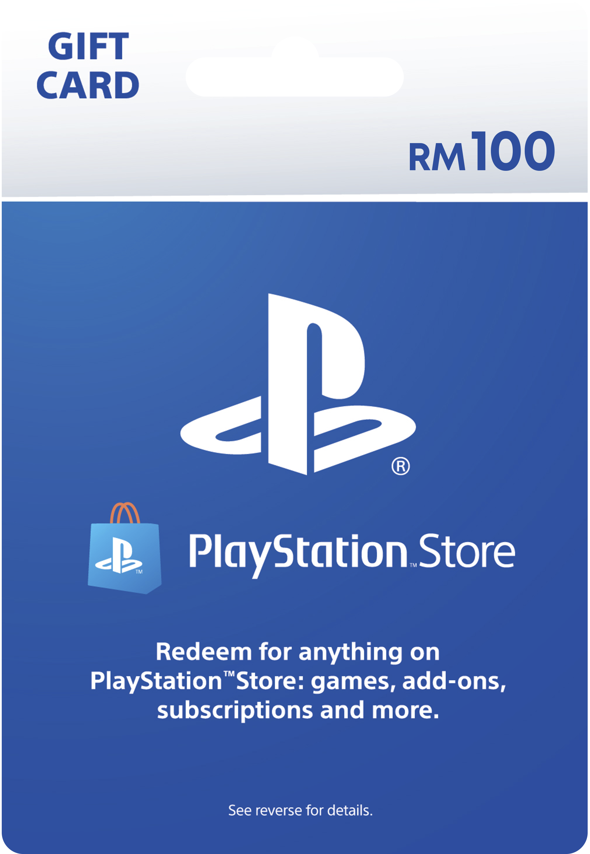 PlayStation Store gift cards RM100