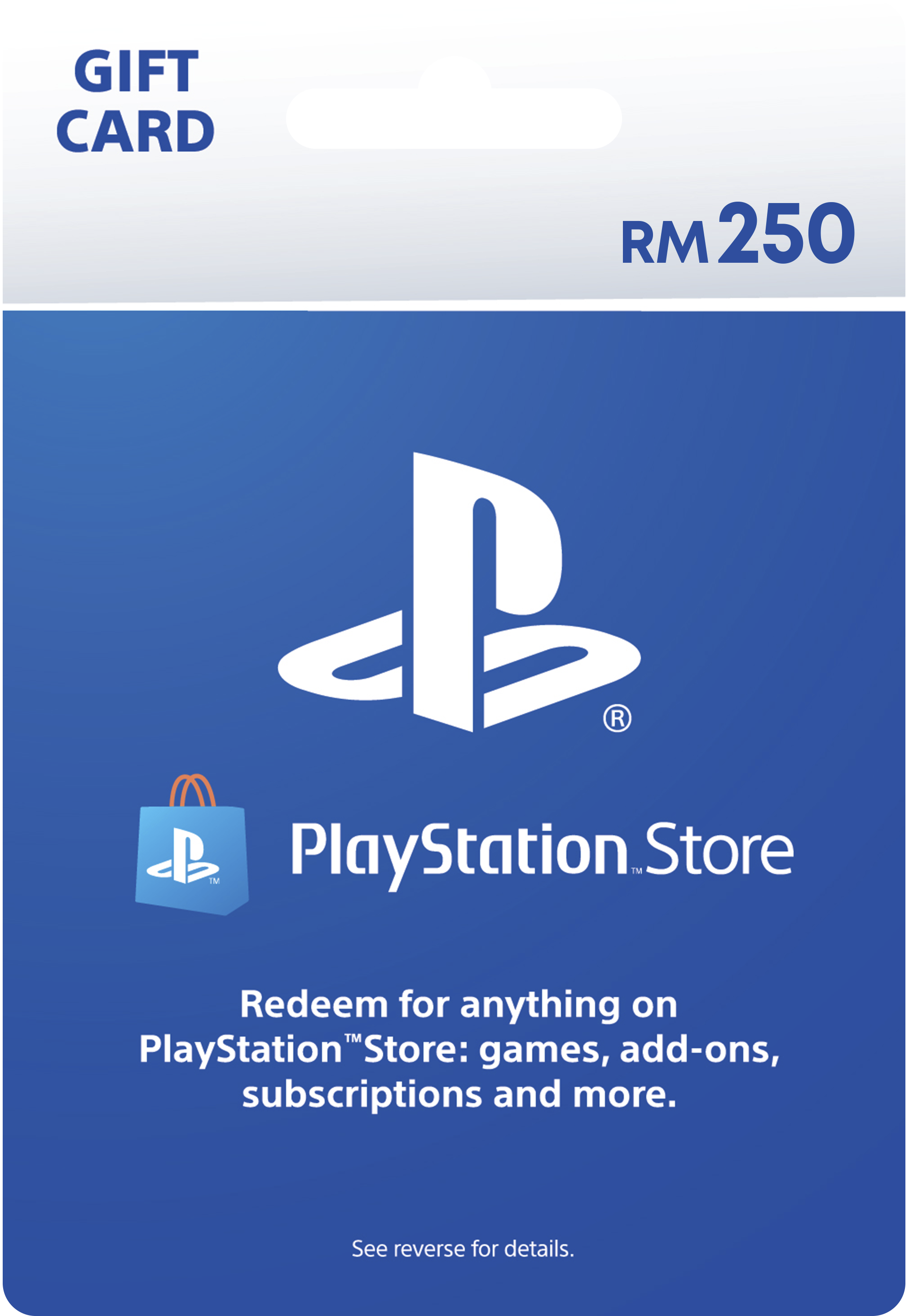 PlayStation Store gift cards RM250