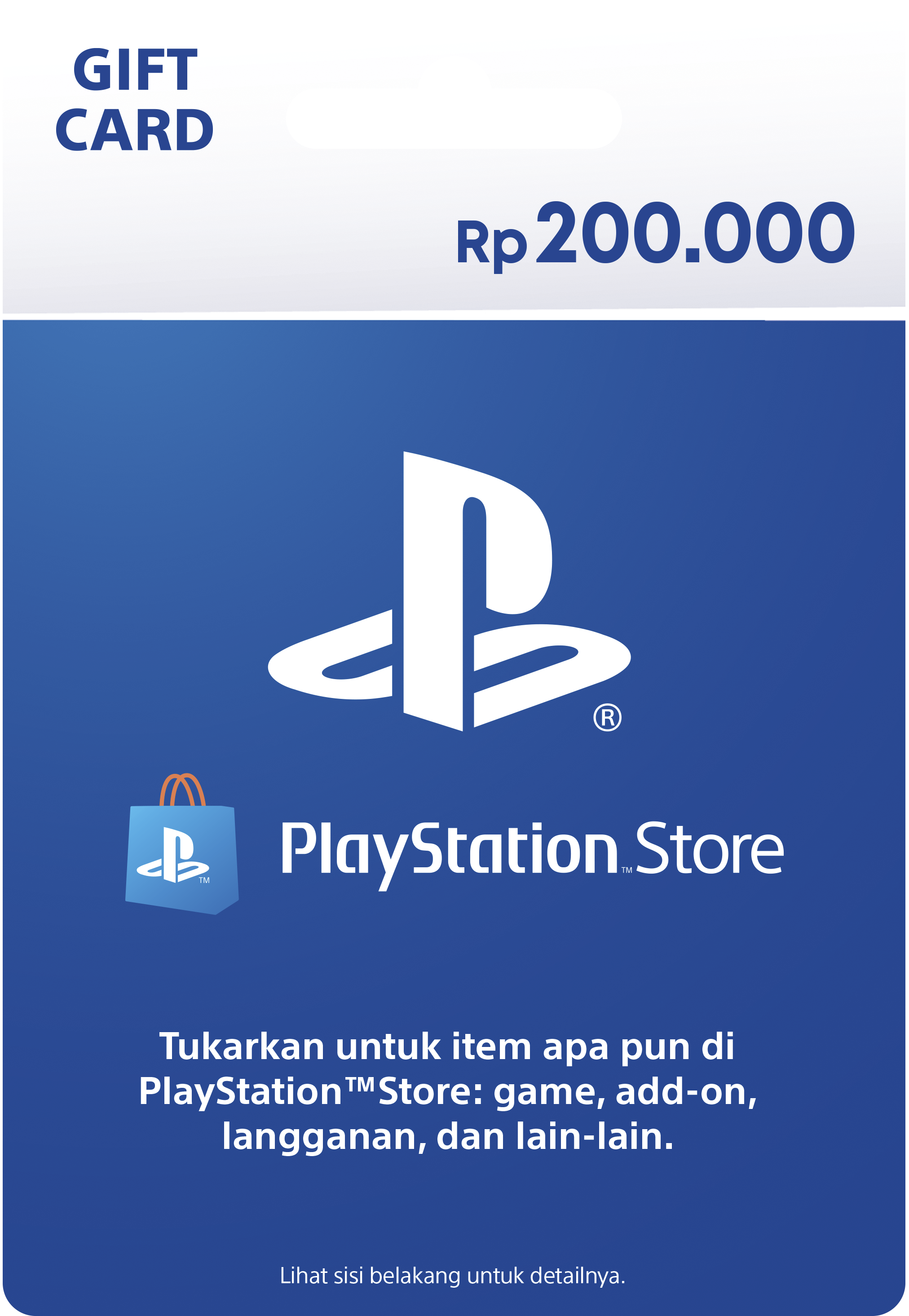 PlayStation Store gift cards RP200000