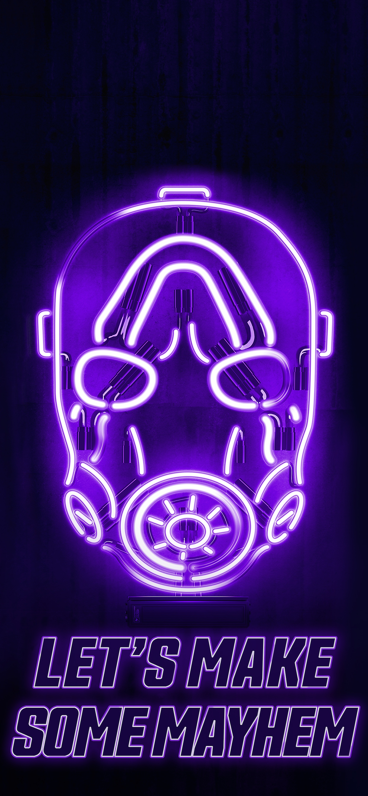 Borderlands 3 neon mayhem mobile wallpaper