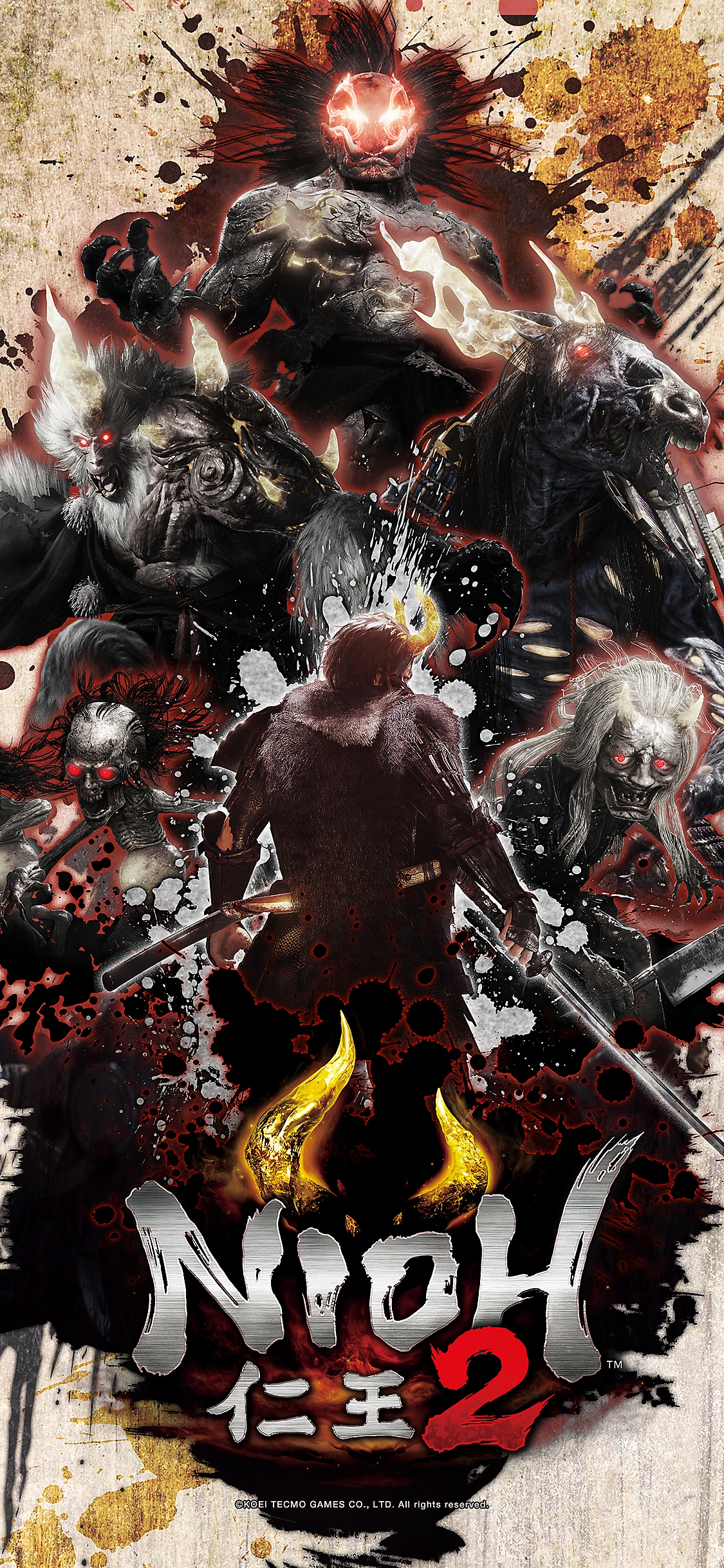 nioh 2 wallpaper iphone X