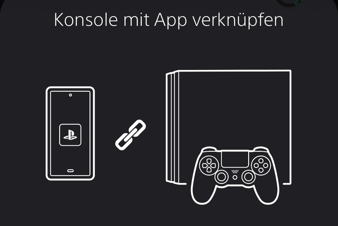 Konsole in der PS App verknüpfen