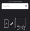 PS App link console
