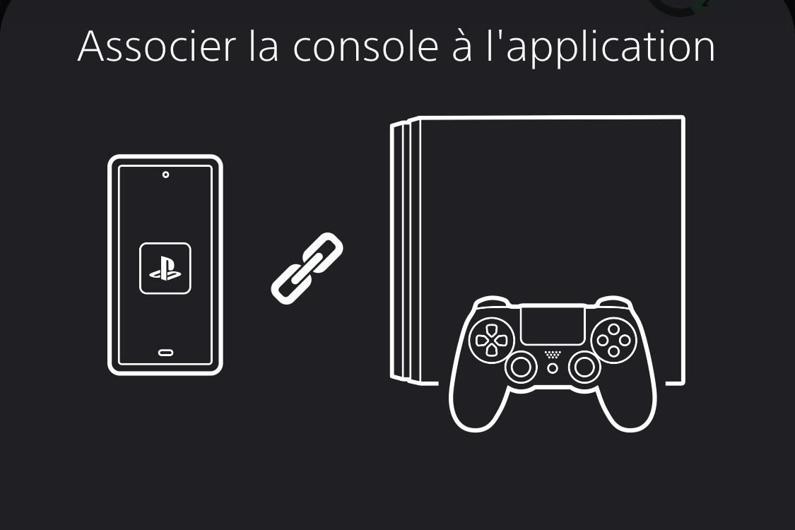 Associer une console à l'application PS App