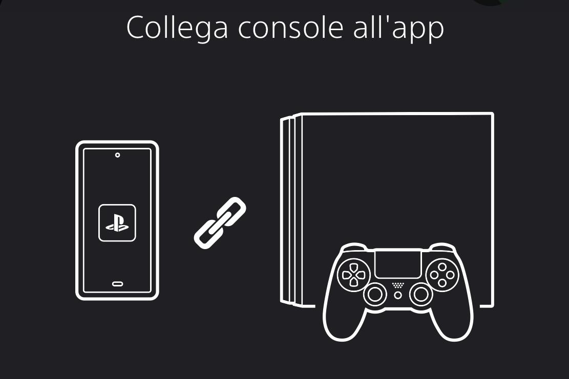 Collegamento della console a PS App