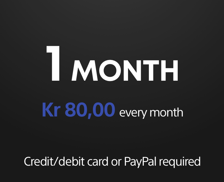 PS Now 1 month