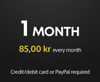 1 month PS Plus subscription