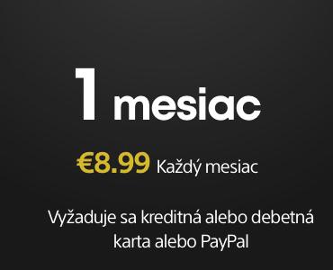 1-mesačné predplatné PS Plus