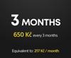 Předplatné služby PS Plus na 3 měsíce