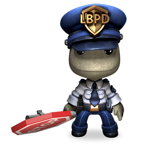 Officier Sackboy