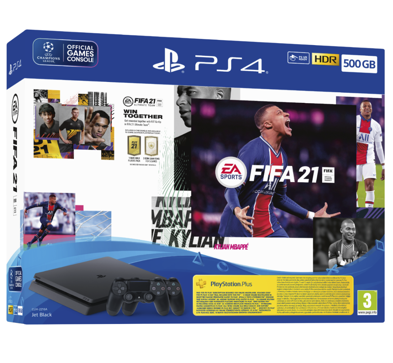 PS4 + FIFA21 + 2xDS4
