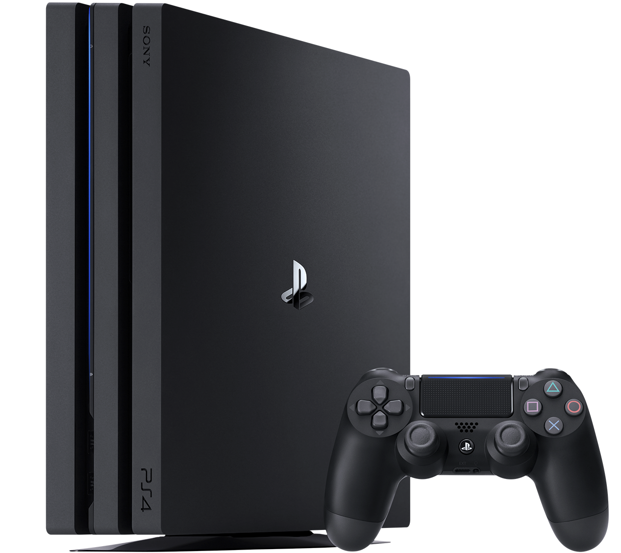PS4 Pro console and controller