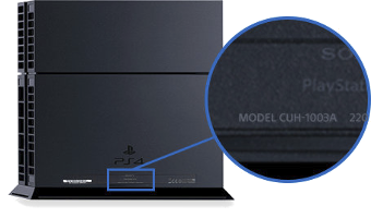 PS4: CUH-10xx, CUH-11xx, CUH12xx model number