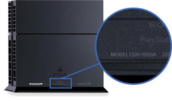 جهاز PS4: رقم الموديل CUH-10xx، CUH-11xx، CUH12xx
