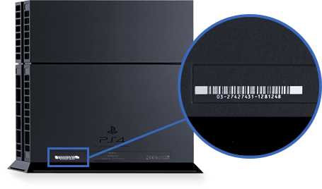 PS4: CUH-10xx, CUH-11xx, CUH12xx serial number