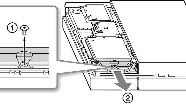 CUH-1200 - remove HDD screw
