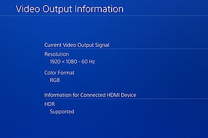 Check if HDR is supported on PS4