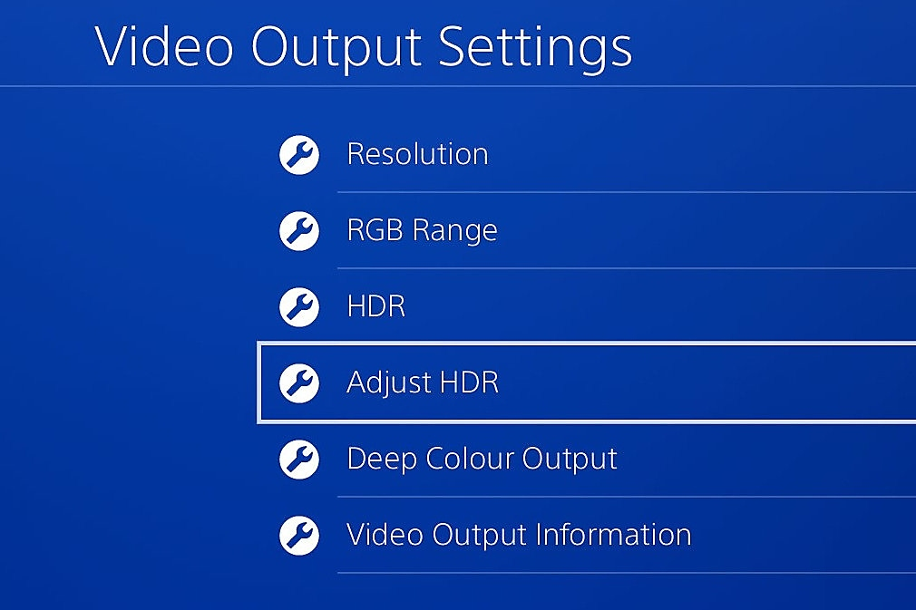 Adjust HDR on PS4