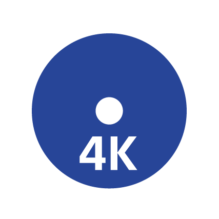 Ícono de Blu-ray 4K Ultra HD