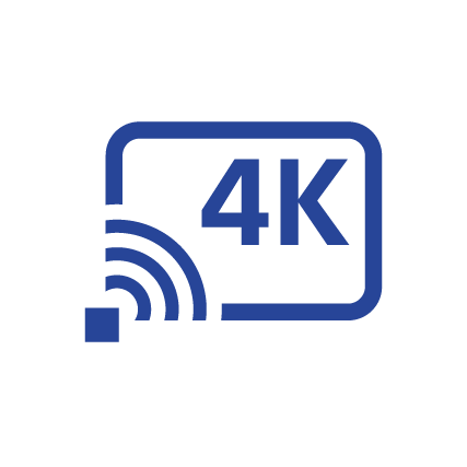 Symbol für 4K-Streaming