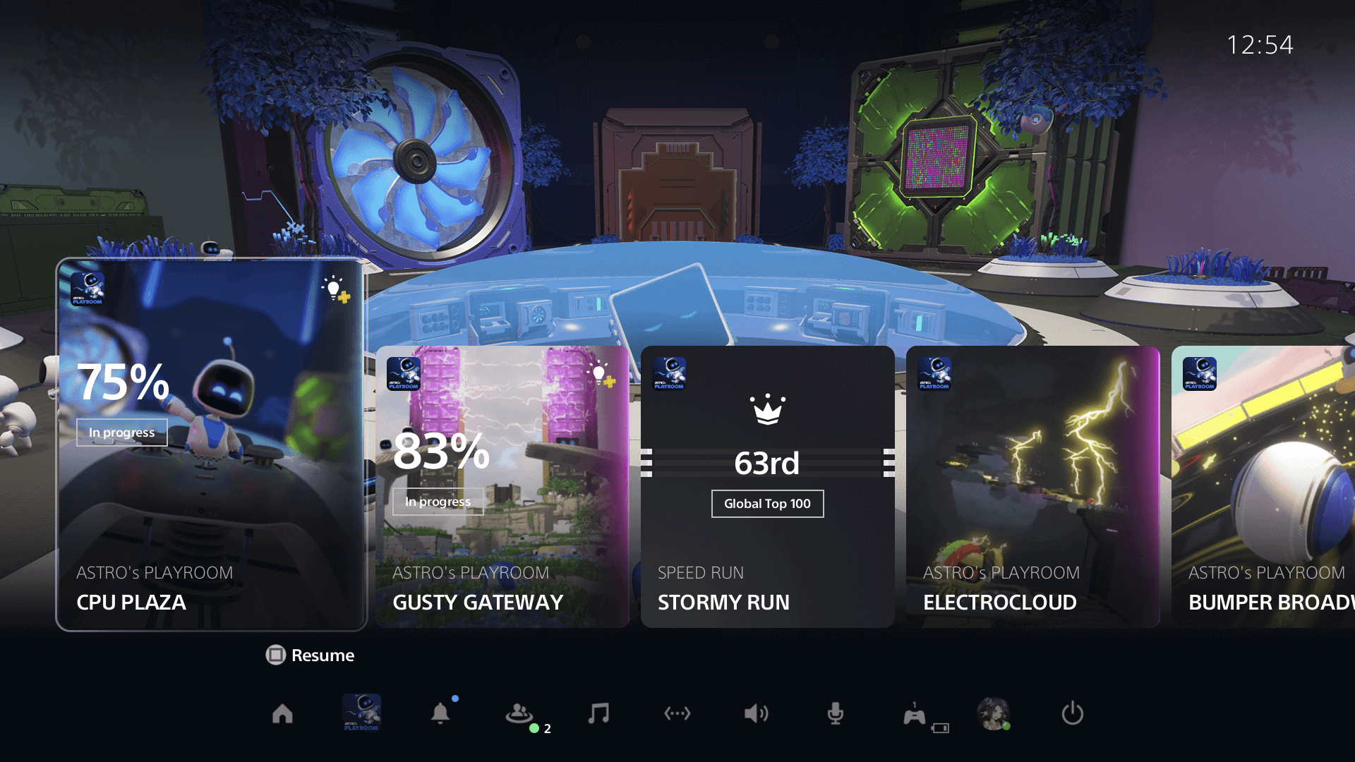 Screenshot showing PS5 Activities feature