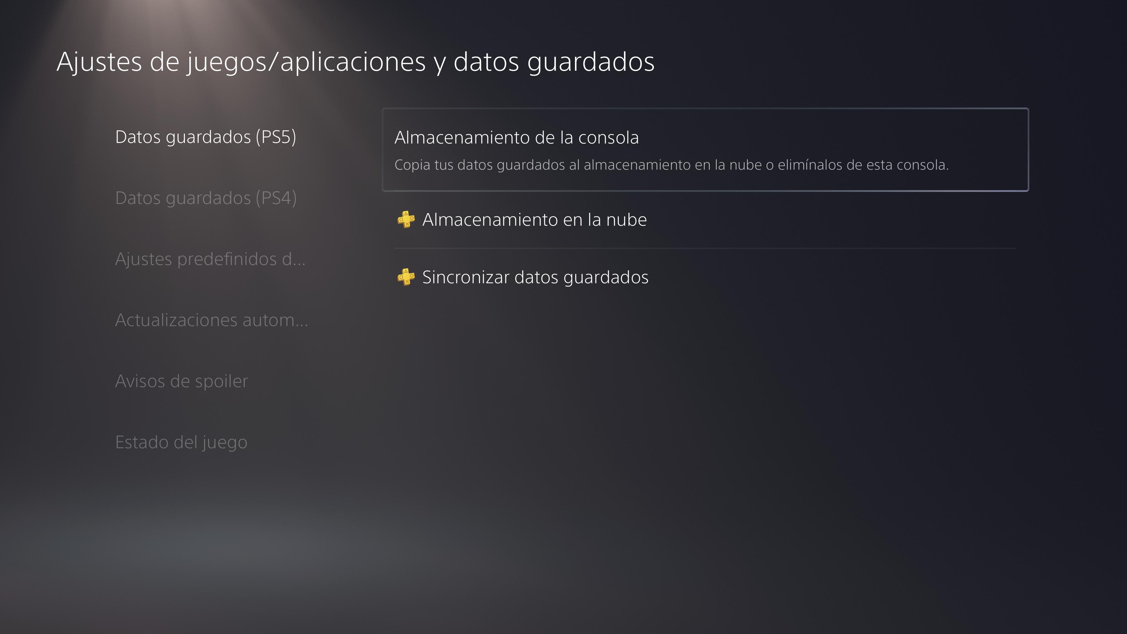 Descarga al almacenamiento de la consola PS5