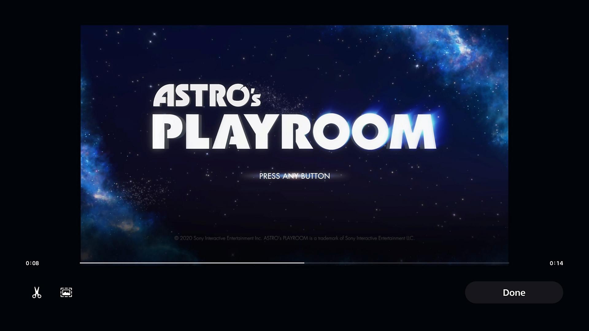 Edit a video clip on PS5 consoles
