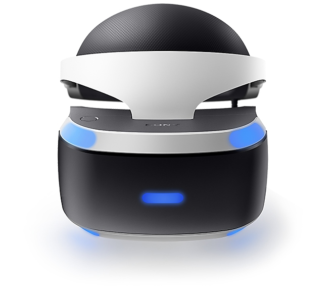 PS VR headset front view