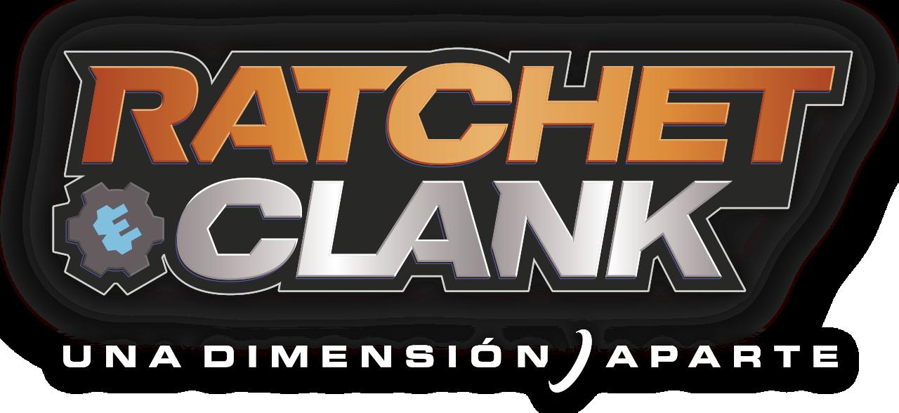 logotipo de ratchet y clank una dimensión aparte