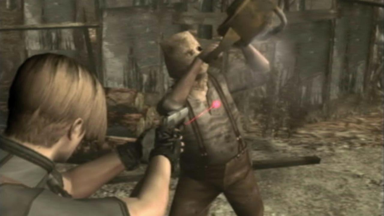 Resident Evil – Istantanea della schermata di Uomo con la motosega