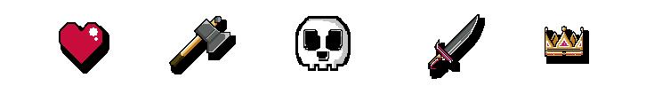 íconos de pixel art
