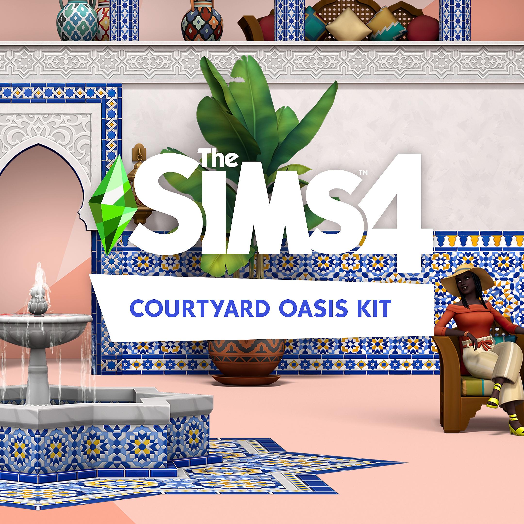 Grafika pudełka The Sims 4 Oaza na patio