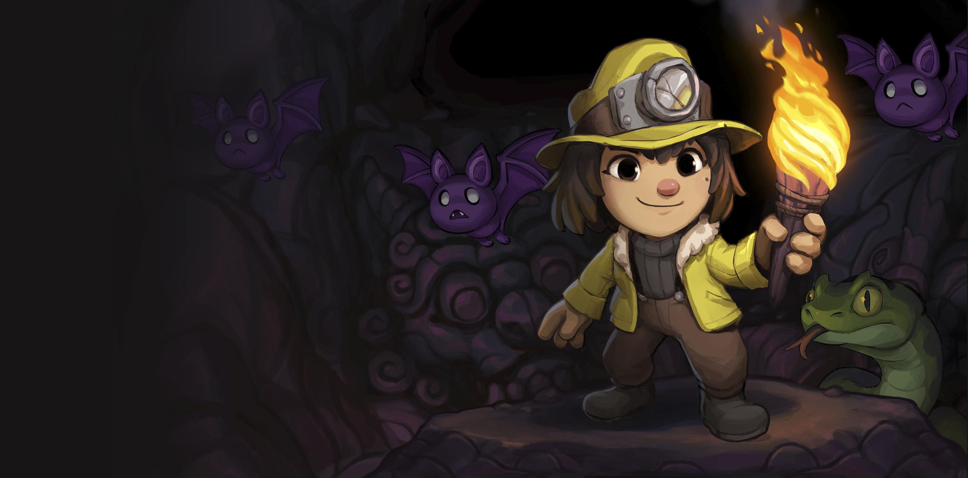الصورة الفنية الأساسية للعبة Spelunky 2