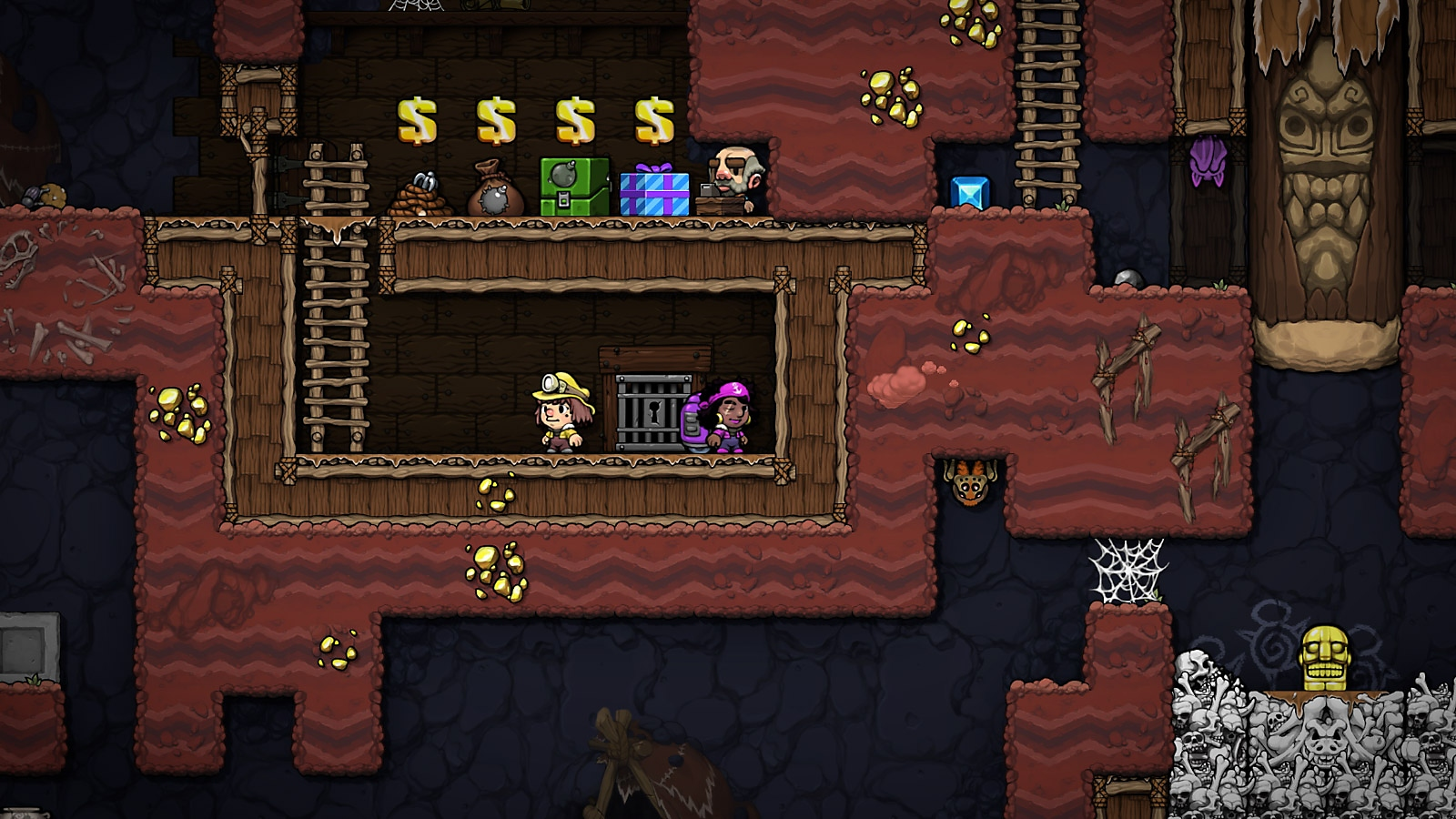 Spelunky 2 - Screenshot - Bring friends along for the adventure