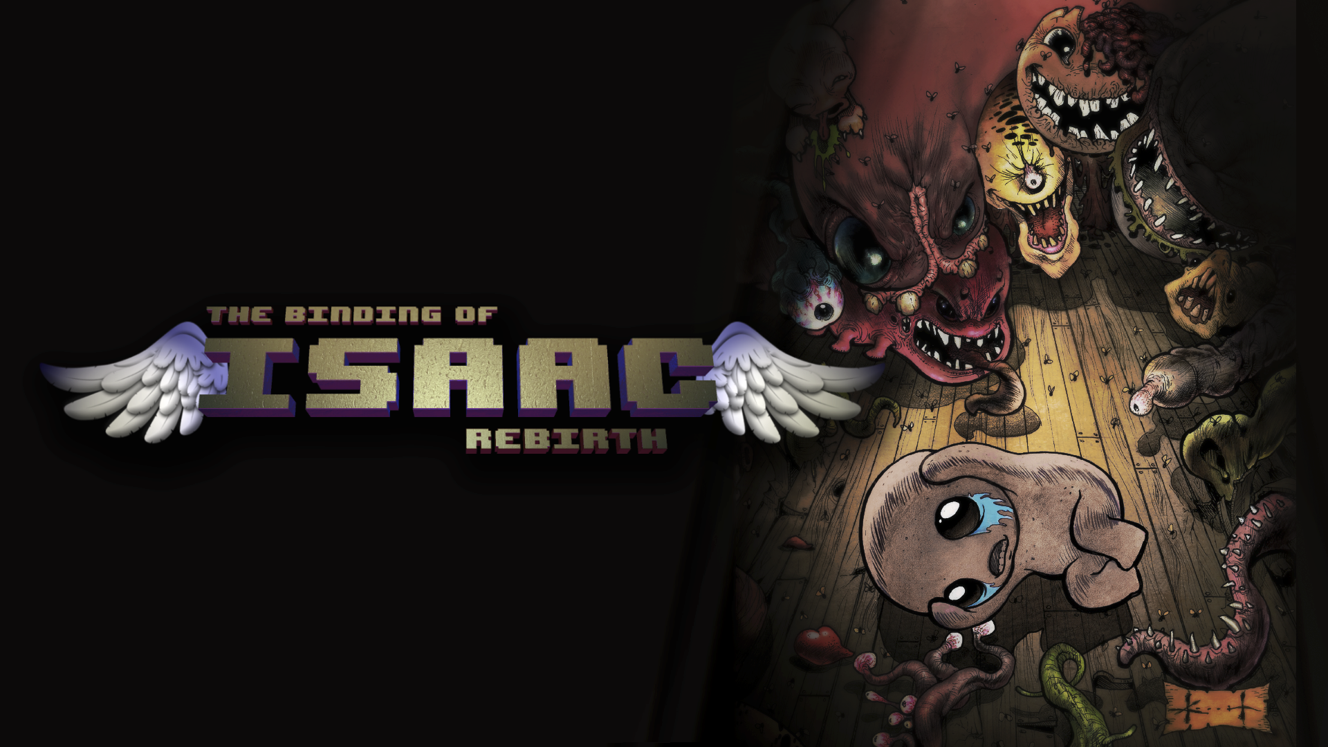 Binding of Isaac: Arte principal de Rebirth