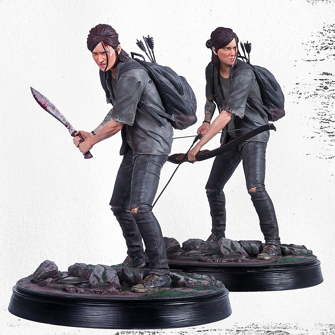 THE LAST OF US PART II ELLIE STATUES FROM GAMING HEADS
