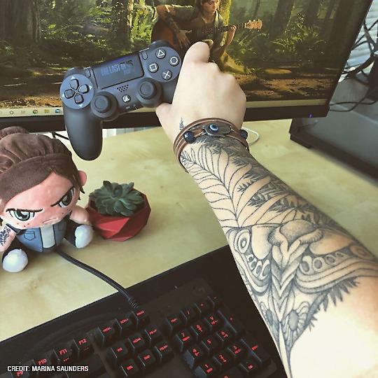 Ellie's tattoo, photo from Reddit user femmefighter