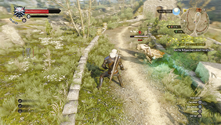Geralt fighting enemies