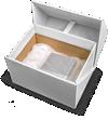 ανοικτό κουτί vr με μονάδα επεξεργαστή