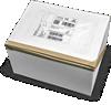 κουτί vr ασφαλισμένο και έτοιμο με τις πληροφορίες αποστολής
